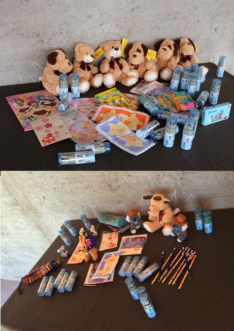 Our random gifts for the children.