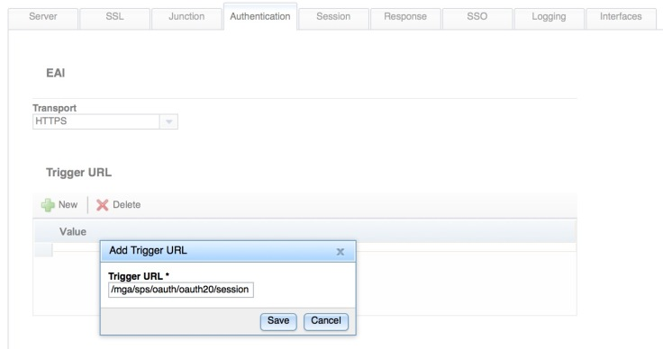 Enable the Session EAI Trigger URL