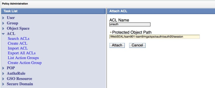 Attach an unauth ACL to the session URL.